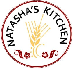 A logo with wheat for Natasha\'s Kitchen