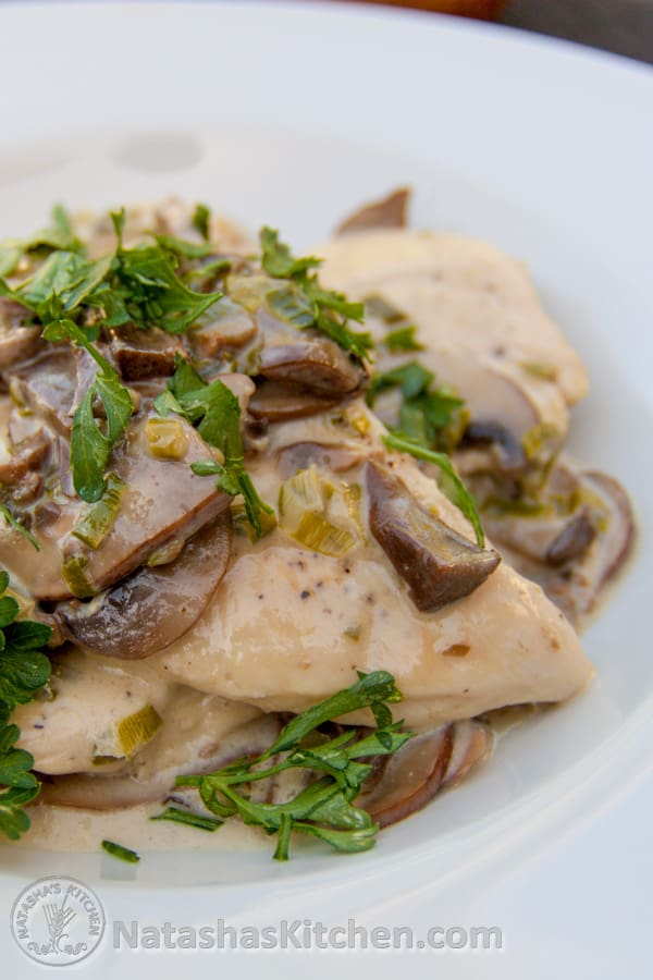 Mushroom-Stuffed Chicken With White Wine Sauce Recipes — Dishmaps
