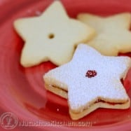 These Shortbread Cookies are soo soo good with hot tea. They are tasty as-is and even better with the raspberry preserves. I made them for Christmas.