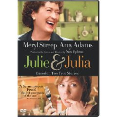 A screenshot of a movie cover called Julie and Julia