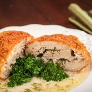 This Chicken Kiev recipe is delicious! The first cut into the chicken releases a flavorful stream of hot butter which makes the chicken very tender.