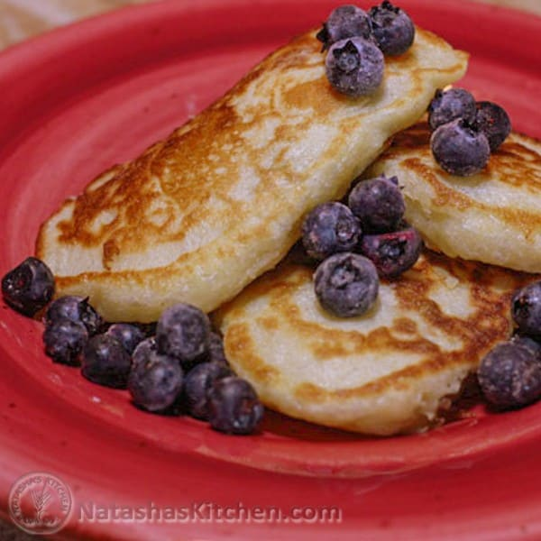 Mom made these buttermilk pancakes all the time when we were kids and she still makes them regularly. They are excellent with all kinds of toppings!