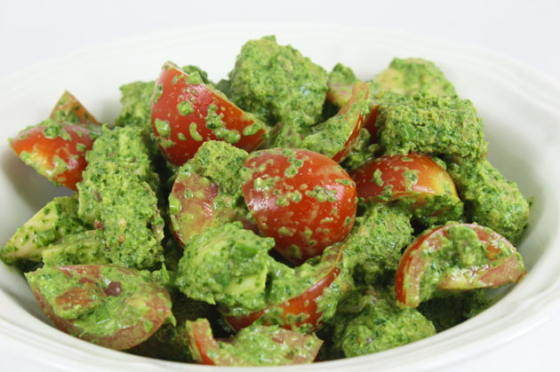 Creamy spinache salad