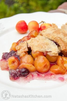 A Semi-Homemade Cherry Pie. Having a pre-made crust in the freezer is my secret for a quick homemade pie! This cherry pie is recipe is loaded with cherries.