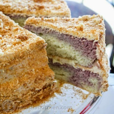 This is a moist Russian sponge cake, commonly referred to as Biskvit. It's my mother's recipe and also my favorite cake! Hope you make it again and again.
