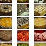 Many different types of food for Thanksgiving church potluck