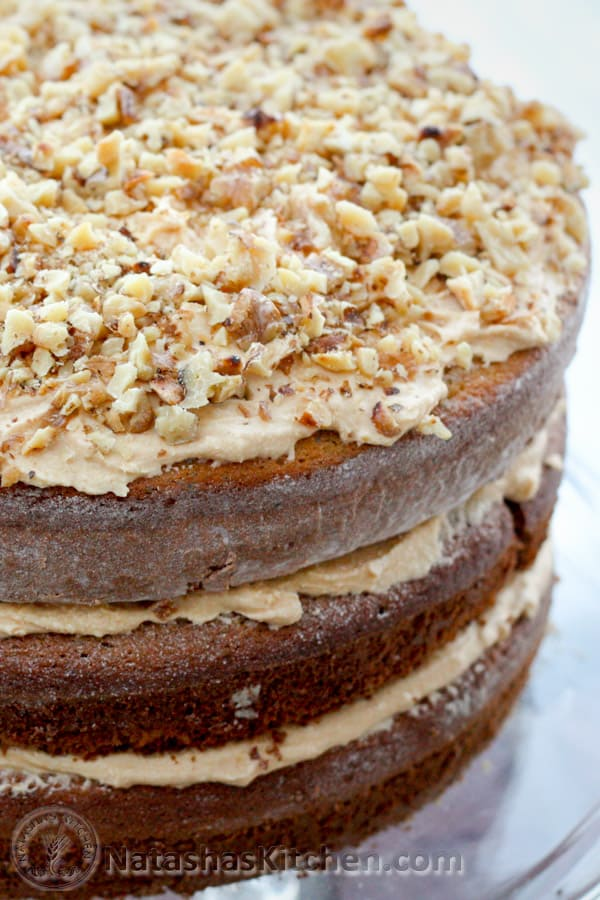 Korolevsky (Russian King's Cake) is delicious and looks royal! Layers are loaded with poppy seeds, chocolate and with walnuts. A must try!