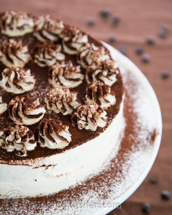 A simple and beautiful Tiramisu cake - if you like Tiramisu, you will LOVE this! | natashaskitchen.com