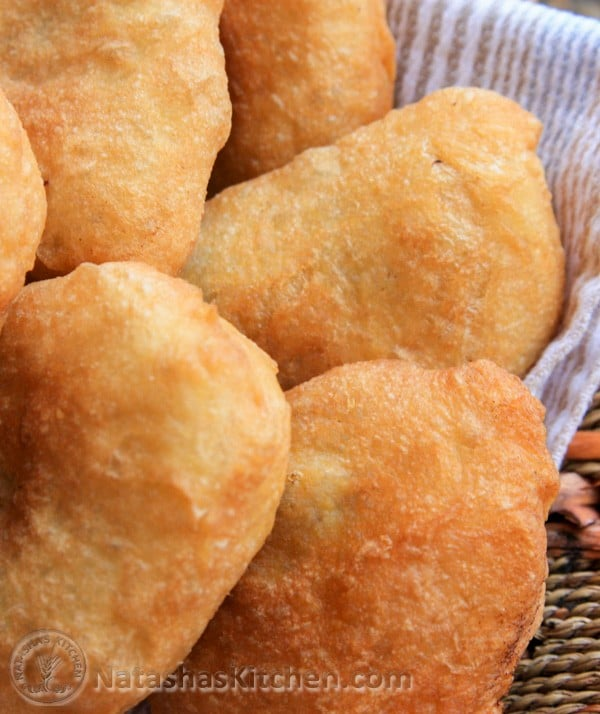 Serve these meat piroshki by themselves or pair them with that awesome garlic dip you might recall from the potato piroshki. The flavor is fantastic!