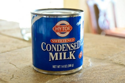 A can of condensed milk