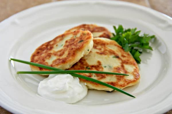 Easy Mashed Potato Pancakes | NatashasKitchen.com