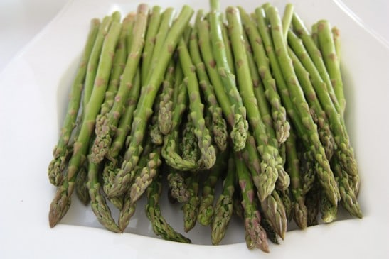 asparagus with lemon butter 1 rinse 2 bunches of asparagus