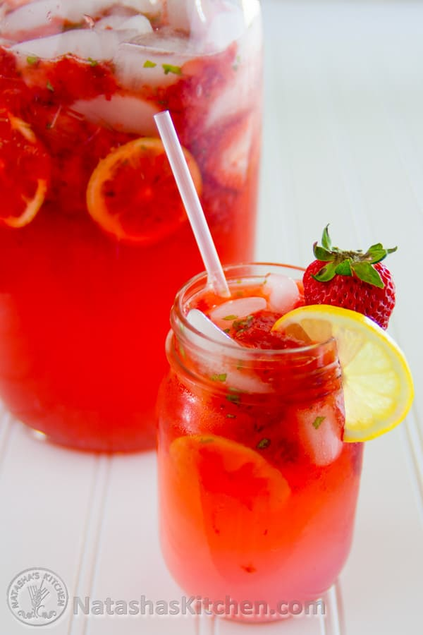 This refreshing Strawberry Basil Lemonade makes for a great party ...