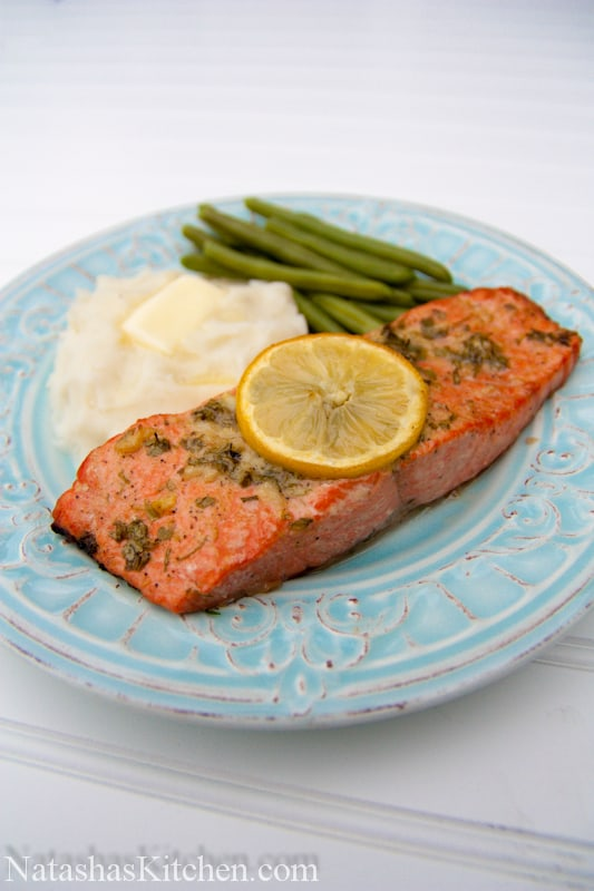 baked salmon with garlic and dijon. Black Bedroom Furniture Sets. Home Design Ideas