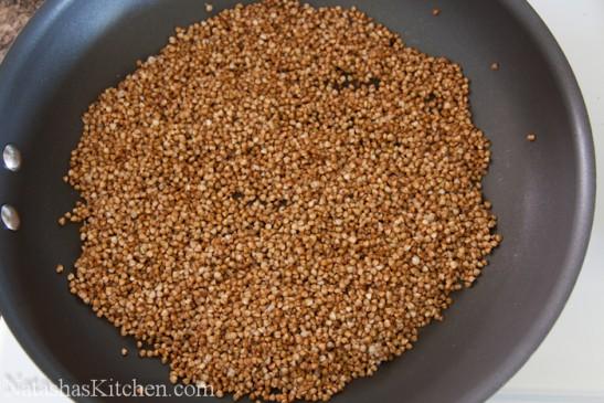 Buckwheat on a skillet