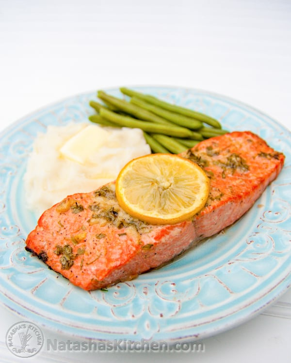 Baked Garlic & Dijon Salmon recipe