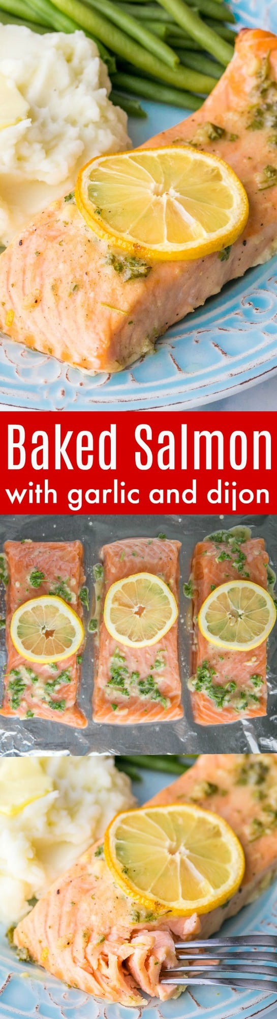 Our Favorite Baked Salmon Recipe - juicy, flaky and super delicious. A 5-Star recipe for baked salmon.