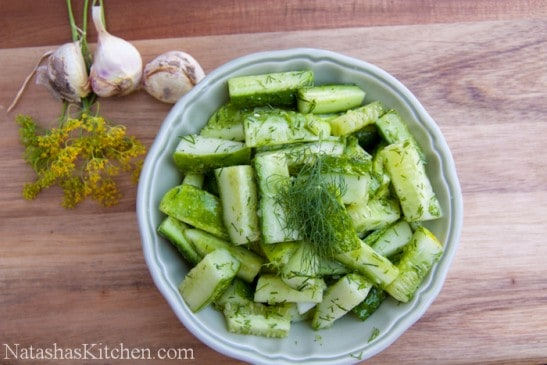 This fresh Cucumber Salad is light, refreshing, and vibrant in flavor. This super fast dish makes a great side to any meal.