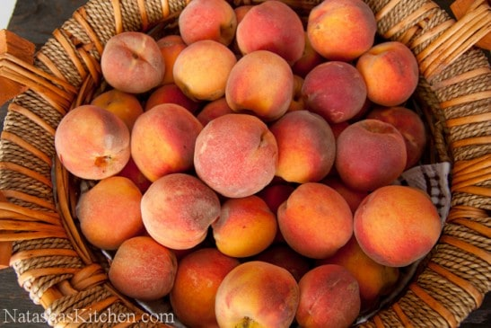 How to make peach preserves - just 3 ingredients: peaches, sugar, lemon juice! No pectin required in this peach jam recipe! Make your own peach preserves.