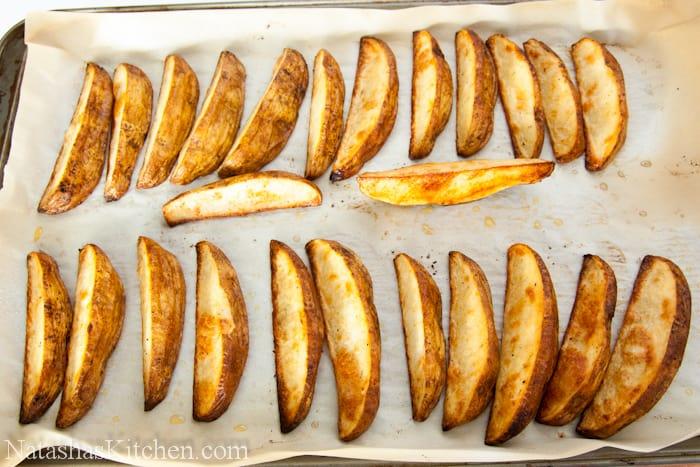 Oven Baked Potato Wedges-8