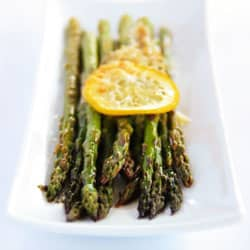 Baked-asparagus-with-lemon-butter-parmesan