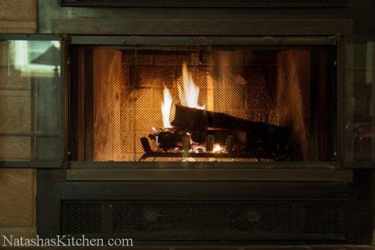 A fireplace