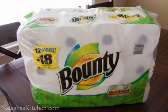 A package of Bounty paper towels