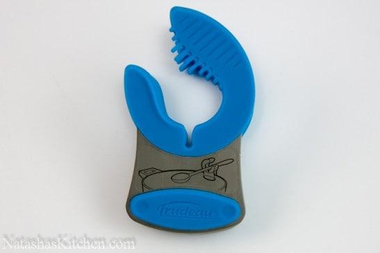 Trudeau blue pot clip spoon rest
