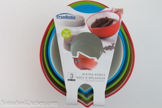 Three Trudeau mixing bowls