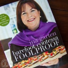 Ina Garten cookbook called Barefoot Contessa Foolproof