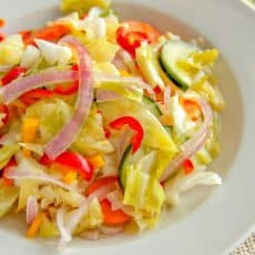 A bowl of marinated vegetable salad
