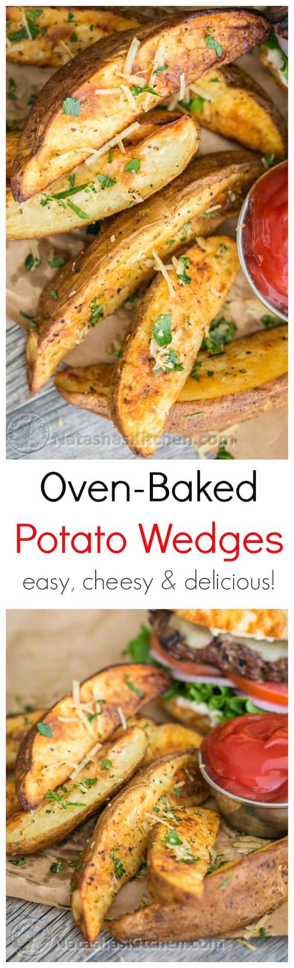 These oven baked potato wedges are crisp, easy and delicious every ...