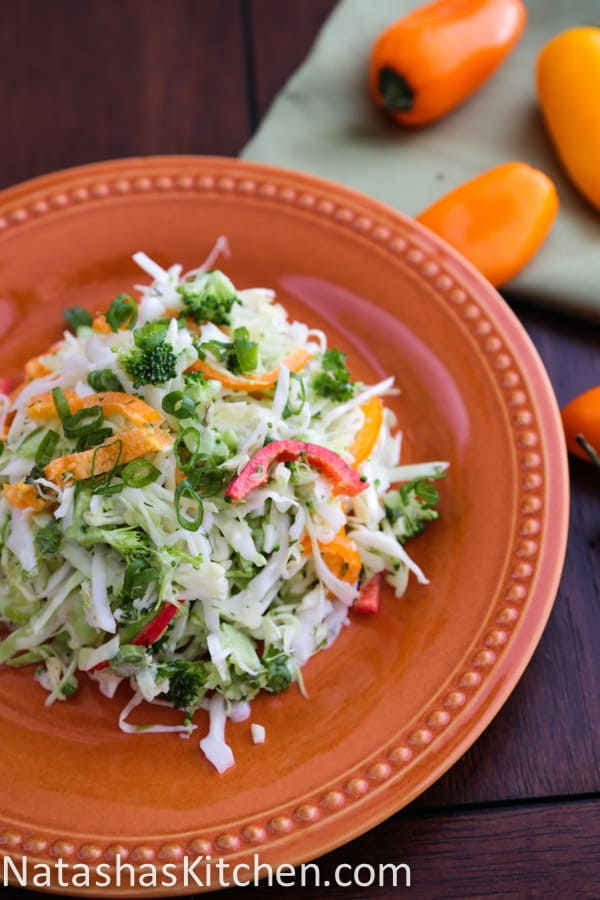Cabbage and Bell Pepper Salad
