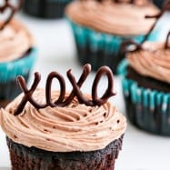 These Chocolate Cupcakes are moist, decadent, ultra-flavorful and easy. I baked a batch for a family dinner and they were a big hit with all the kiddos.