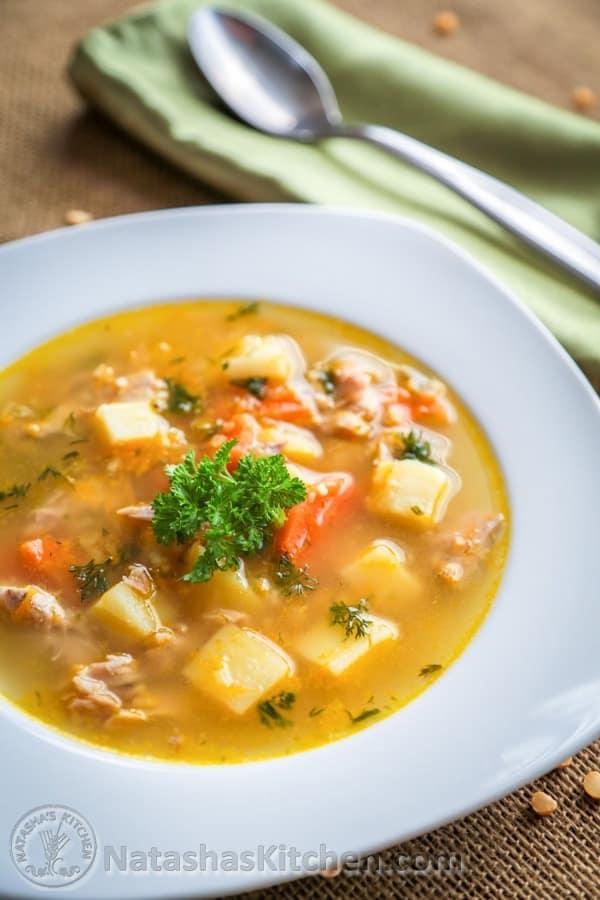Mom 39 s split pea soup recipe natasha 39 s kitchen for Natashas kitchen