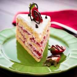 Strawberry Layer Cake square