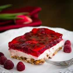Raspberry Pretzel square
