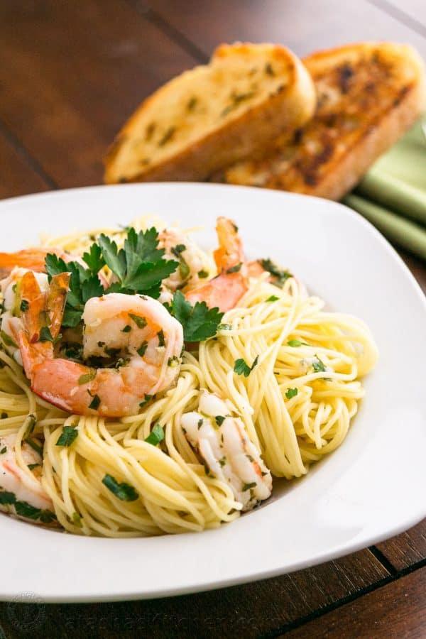 Angel Hair With Lemon Shrimp Scampi Recipe Natasha S Kitchen