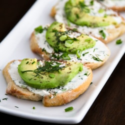 Cream Cheese Herb & Avocado Canapes square
