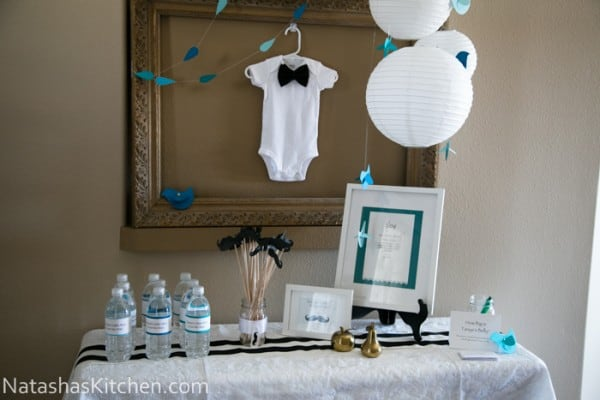 Welcoming Tanyas Little Man Baby Shower Menu And Decor