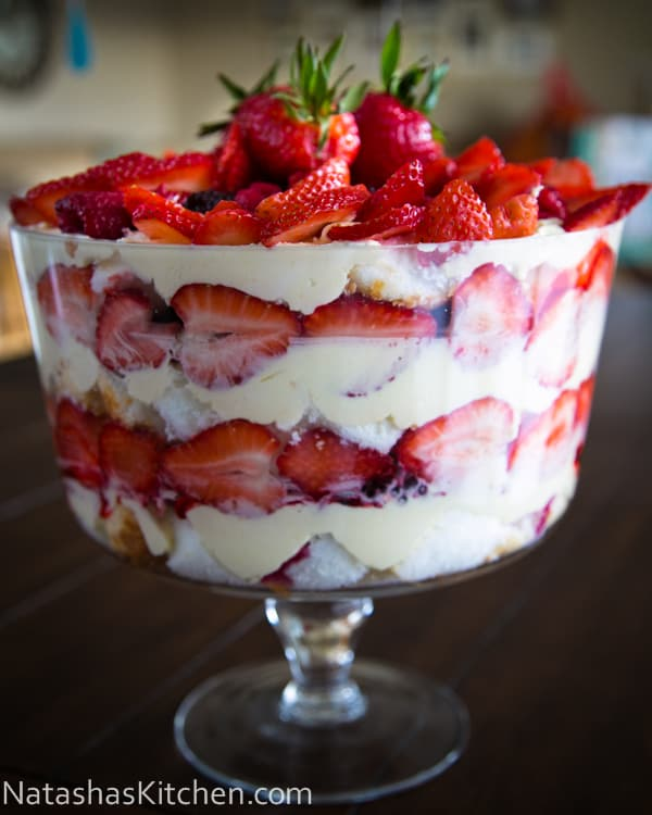 trifle red white and blueberry trifle angel fruit trifle recipe yummly ...