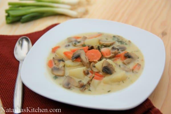 potato soup russet potatoes make it hearty cheesy chicken and potato ...