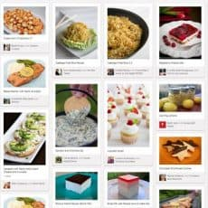 A screenshot of the 12 most pinned recipes