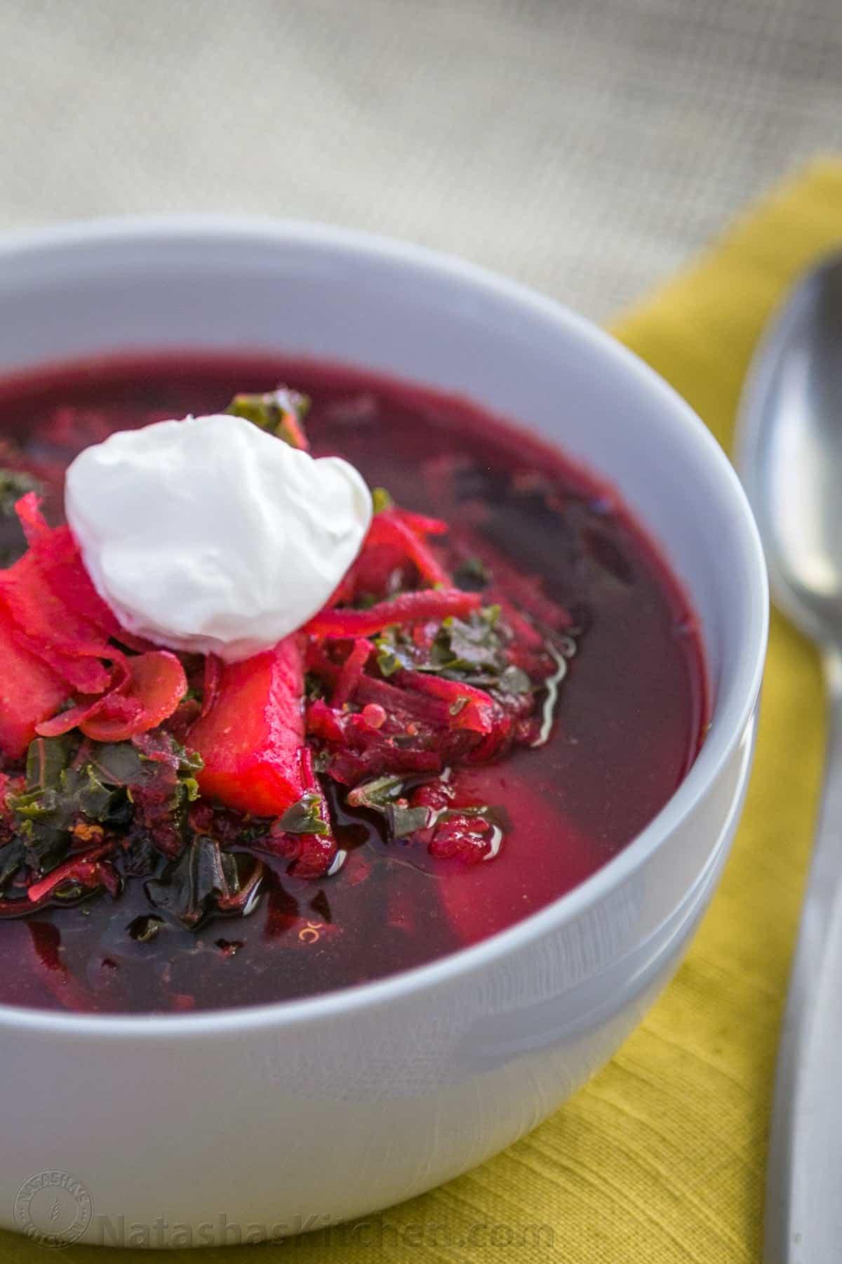 Easy superfood red borsch recipe natasha 39 s kitchen for Natashas kitchen