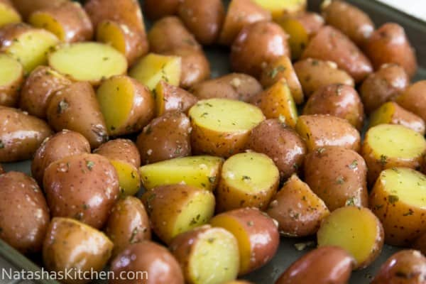 Easy Oven roasted baby red potatoes