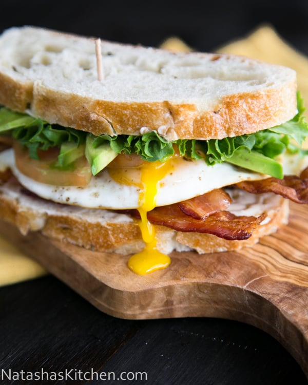 The Breakfast BLT with avocado! @NatashasKitchen