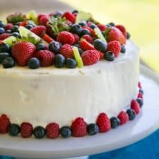 Kiwi Berry Cake Recipe - If you love fruit, this cake will make your dreams come true. Layer after layer of gorgeous fruit in this berry cake. | natashaskitchen.com