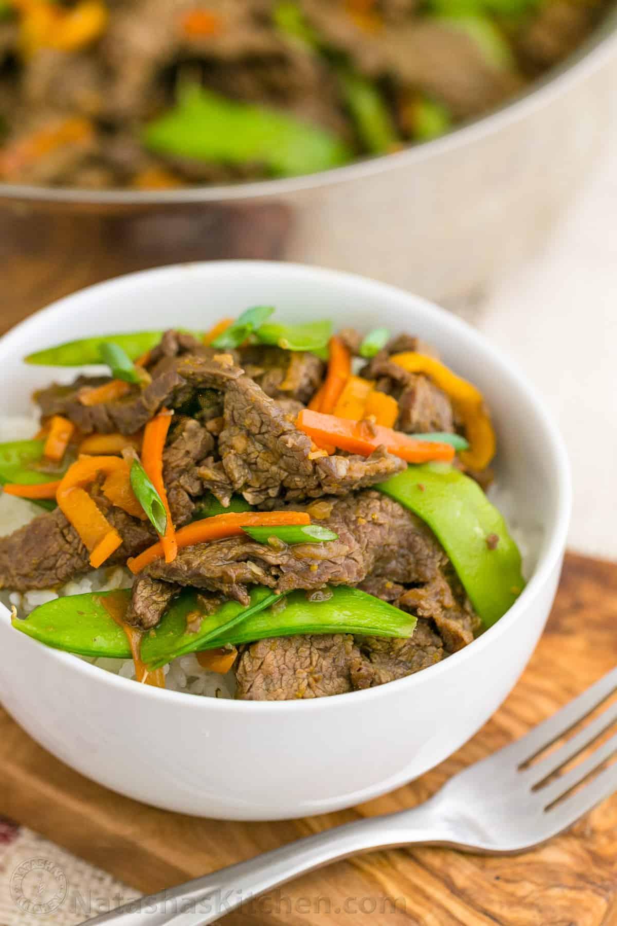Beef and vegetable stir fry recipe natasha 39 s kitchen for Natashas kitchen