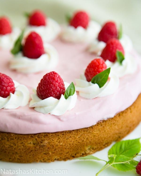 Raspberry Moose Cake