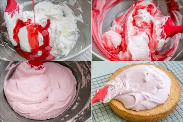 how to make raspberry cake filling